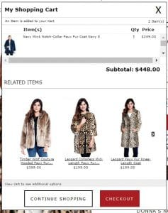 Shopping Cart Screenshot 1