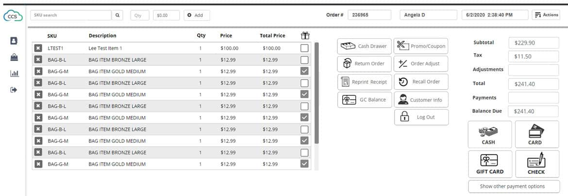 Ability Point Of Sale Screenshot 2