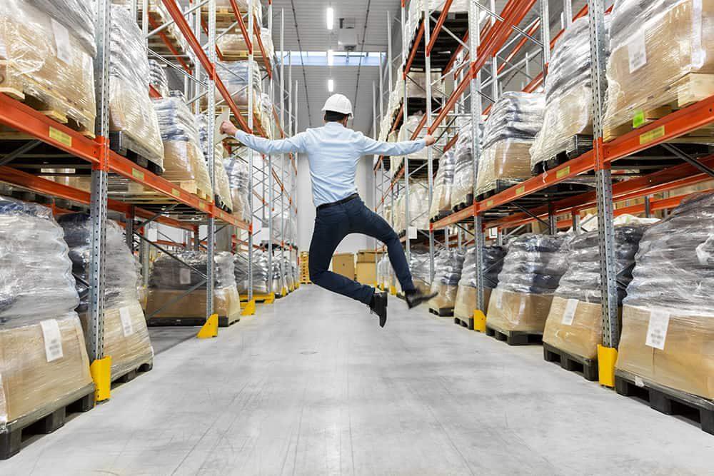 happy warehouse worker
